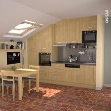 cuisine a bois cuisine bois clair ouverte style rustique plan de travail gris