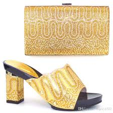 wedding shoes in nigeria unique design gold nigeria wedding shoes and purse to match