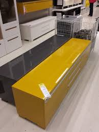 mustard yellow besta burs storage bench from ikea playroom