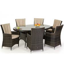 oval dining table set for 6 maze la 6 seat dining set free parasol oak furniture house