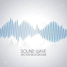 sound wave design over gray background vector illustration royalty