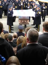 Flag Folding Ceremony Local Police Niles Resident Attend Bauer Funeral Journal
