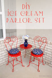 ice cream parlor table and chairs set diy ice cream parlor set
