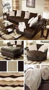 sectionals living room furniture brown and cream white tan