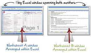 267 display multiple excel worksheets side by side work smarter