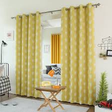 Overstock Blackout Curtains Amazon Com Best Home Fashion Yellow Arrow Room Darkening Blackout
