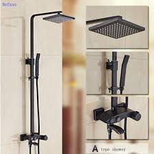 compare prices on rainfall shower set online shopping buy low dofaso luxury big rainfall thermostatic shower bath rainfall shower set oil rubbed bronze shower faucet