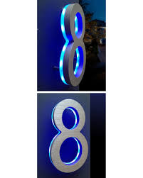 Lighted House Number Sign Holiday Shopping Special Luxello Lighted Address House Numbers