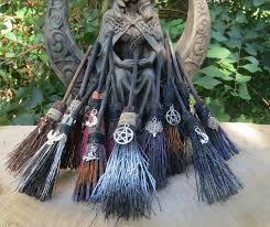 altar broom mini witches altar broom travelling protection