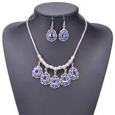 vintage necklace earrings images Teardrop style vintage traditional necklace earrings jewelry set jpg