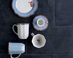 lisbeth dahl set of 2 tea seaside porcelain cups bellakoola