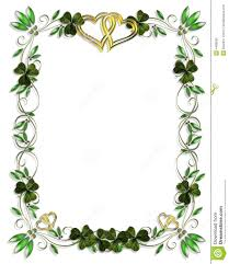 celtic shamrock borders border design element for wedding