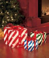 lighted christmas present boxes decorate your front yard front porch business or your school