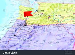 Map Portland by Portland Pinned On Map Usa Stock Photo 250883161 Shutterstock