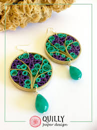 paper ear rings 29 best qullies images on quilling earrings paper