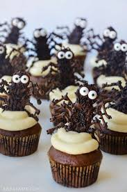 halloween cupcakes with chocolate spiders halloween tasty