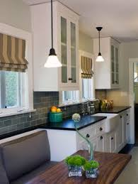 Galley Style Kitchen Designs A Window Seat At The End Of A Slender Galley Style Kitchen