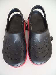 3 black with red sole crocks black and red u2013 ship to island