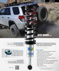 toyota offers bilstein 6112 series suspension kit 47 259768 10 16 toyota 4runner