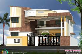 Home Design Contemporary India House Plan Sq Ft Kerala House