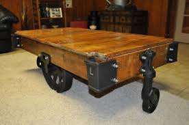 railroad cart coffee table antique lineberry factory cart coffee table antique price guide