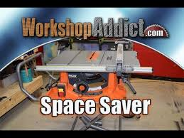 Ridgid Table Saw Review Ridgid R4513 Portable Table Saw With Stand Review Youtube