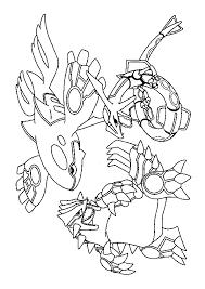 a colorier le pokémon légendaire goudron combattant kyogre
