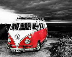 volkswagen camper vw camper van canvas prints free uk delivery