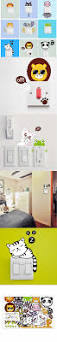 Home Interior Lion Picture by 1pcs U003d11 Styles Cute Funny Lion Switch Stickers Cat Frog Panda