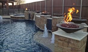Waterfall Glass Tile Freeform Pools Photo Gallery Custom Pools Images Dallas