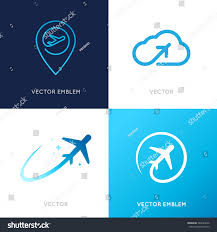 vector logo design templates airlines airplane stock vector
