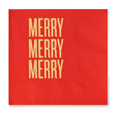 merry merry merry cocktail napkins by rbtl read between the lines