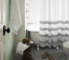 Light Grey Shower Curtain Shower Curtain Diys To Revamp Your Bathroom