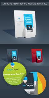 psd brochure holder mockup template free download u2013 designscanyon