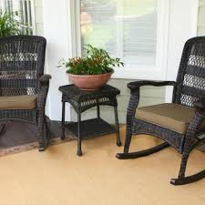 Modern Wicker Patio Furniture Modern Wicker Patio Chair Come With Black Metal Frame Design