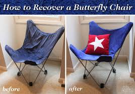 Recover Chair How To Recover A Butterfly Chair Pretty Handy