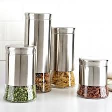 glass canister sets for kitchen ksp silo flared canister set kitchen stuff plus