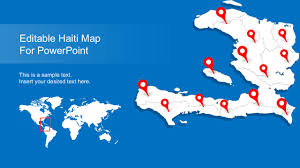 World Map With States by Editable Haiti Map With States Slidemodel