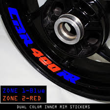 honda cbr 400 honda cbr 400 rr custom dual color inner rim sticker stripe