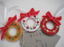 felt wreath ornaments рождество wreaths