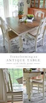 white dining room tables and chairs antique dining table updated with chalk paint chalk paint white