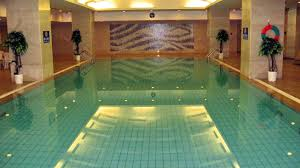 awesome white blue wood glass simple design small indoor pool