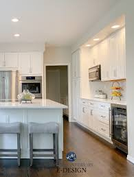 white dove kitchen cabinets with edgecomb gray walls an early 2000 s kitchen update with benjamin white