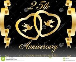 25 wedding anniversary 25th wedding anniversary royalty free stock images image 11363469