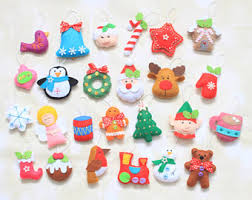 felt ornaments felt advent calendar etsy