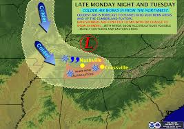 Tennessee Weather Map by The Weather Guy November 2011