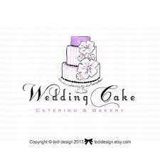 wedding cake logo wedding cake ooak illustrated premade logo design will not be