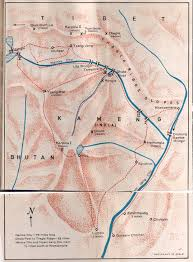 Himalayan Mts Map 1969 Thagla Ridge Namka Chu Valley Battleground By Dalvi From