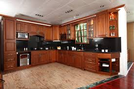 glass door kitchen cabinet pretty l shape kitchen features brown color birch kitchen cabinets
