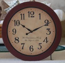 furniture standart style of oversized wall clock in brown frame
